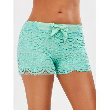 Drawstring Cut Off Shorts en dentelle en crochet