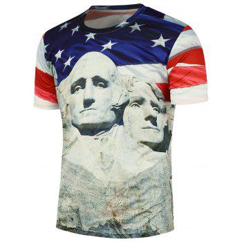 Mount Rushmore Printed Round Neck T-Shirt