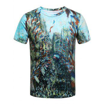 French Style 3D Print Short Sleeve T-Shirt