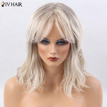 Siv Hair Colormix Medium Center Parting Slightly Curly Human Hair Wig