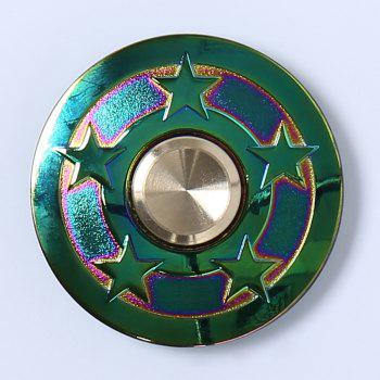Focus Toy Colorful Star UFO Fidget Metal Spinner - multicolorcolore