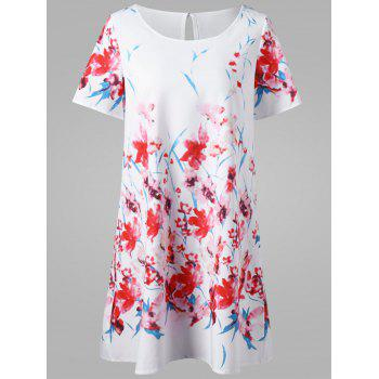 Floral Mini T-Shirt Dress