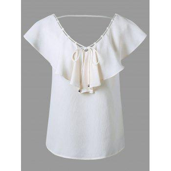 Butterfly Sleeve Backless Blouse