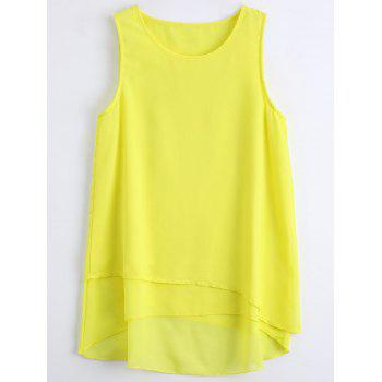 Chiffon Asymmetric Sleeveless Top
