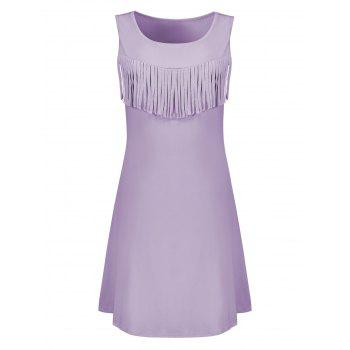 Fringed Mini Trapeze Dress