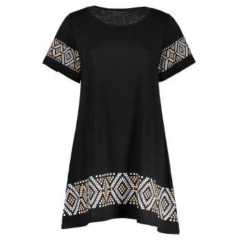 Geometry Print Mini T-Shirt Dress