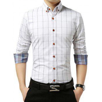 Grid Check Slim Long Sleeve Shirt