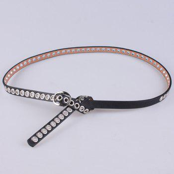 Faux Leather Hollow Out Circle Rings Belt