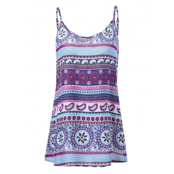 Plus Size Trible Print Tank Top