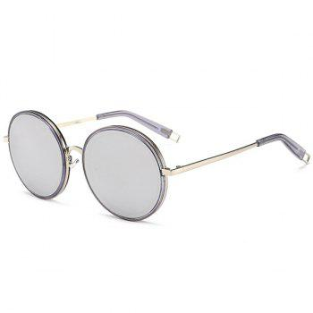 Hollow Out Leg Mirror Round Sunglasses