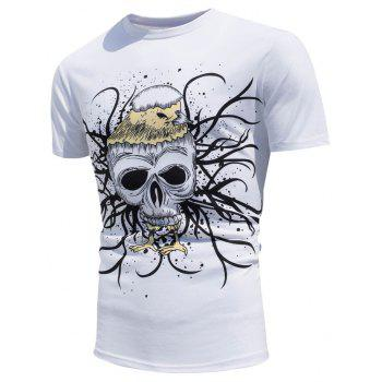 Color Changing Skull Printed T-Shirt