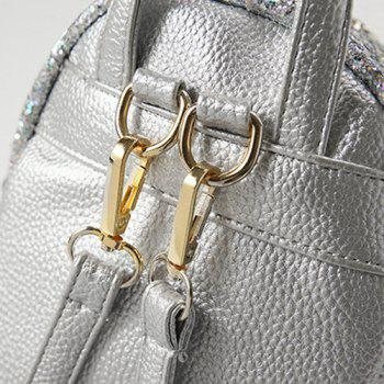 Mini Sequin Glitter Backpack - SILVER