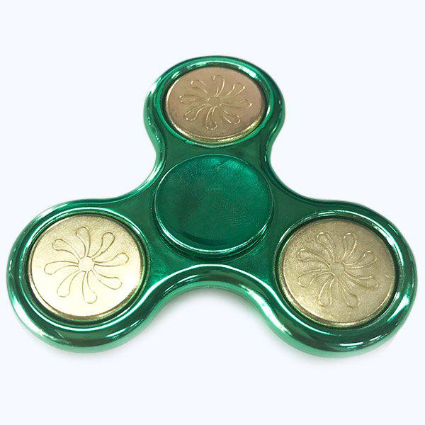 Flower Pattern Finger Gyro Plastic Fidget Spinner Toy tri fidget hand spinner triangle metal finger focus toy adhd autism kids adult toys finger spinner toys gags