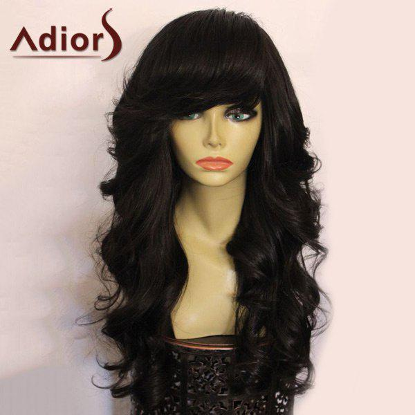 Adiors Long Side Bang Shaggy Loose Wavy Synthetic Wig adiors wavy neat bang long synthetic wig