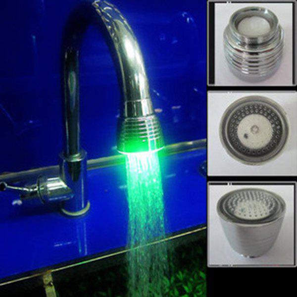 Water Stream Color Change LED Light Luminous Faucet - STAINLESS STEEL