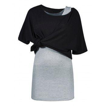 Batwing Sleeve Top with Mini Tank Dress