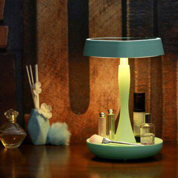 180 degrés Rotate Heart Shape Makeup Mirror USB Desk Lamp - Vert