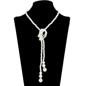 Graduated Pearl Adorn Necklace