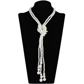 2PCS Graduated Pearl Statement Necklaces