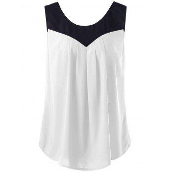 Plus Size Curved Two Tone Tank Top