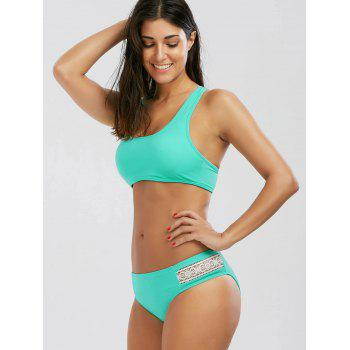 Crochet Panel Padded Bikini Set - S S