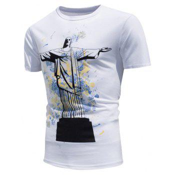 Color Changing Christ the Redeemer Statue T-shirt