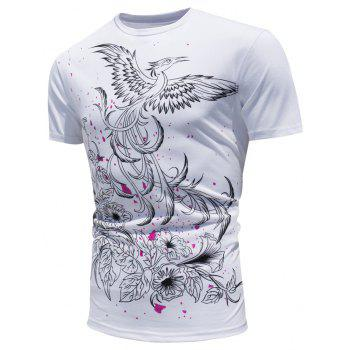 Color Changing Peacock Print T-shirt