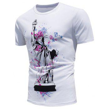 Color Changing Statue of Liberty Print T-shirt