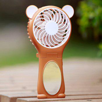 Mirror Bear Ear Handheld Folding USB Fan