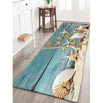 Nautical Starfish Print Flannel Antislip Bathroom Rug