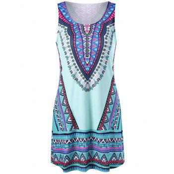 Tribal Sleeveless Tank Dress