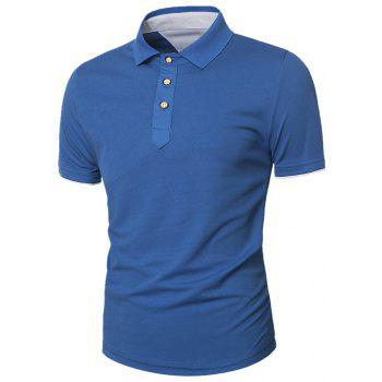 Slimming Panel Short Sleeve Polo T-Shirt