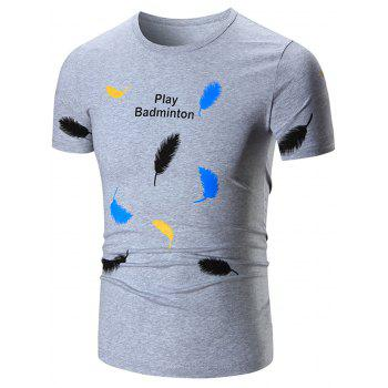 Feather Print Graphic T-Shirt