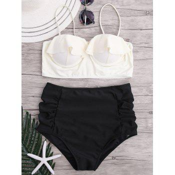 Ruffle High Waisted Underwire Bikini Set