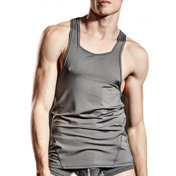 Stretchy Suture Fitted Tank Top