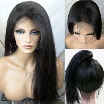 Ultra Long Free Part Silky Yaki Straight Lace Front Synthetic Wig