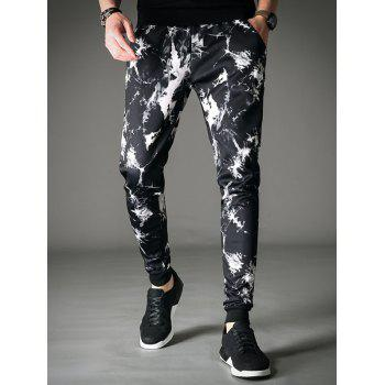Pocket Cracking Dye Jogger Pants