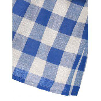 Off The Shoulder Plaid Flounce Blouse - CHECKED CHECKED