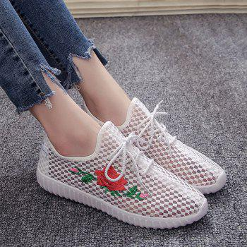 Mesh Embroidery Breathable Athletic Shoes