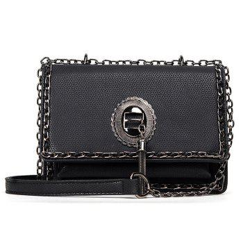 Metal Chains Tassel Crossbody Bag