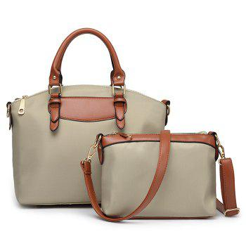 Nylon 2 Pieces Handbag Set