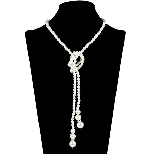 Фото Graduated Pearl Adorn Necklace