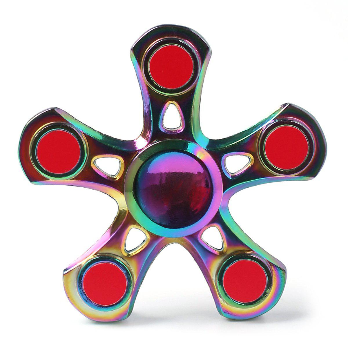 Zinc Alloy Star Stress Relieve Finger Fidget Spinner - coloré 7*7*1.5CM