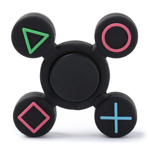 Play Station EDC Fidget Finger Spinner - BLACK 7*7*1.2CM