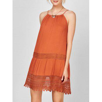 Lace Insert Bohemian Slip Dress