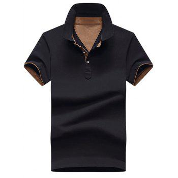 Color Block Short Sleeve Polo Shirt