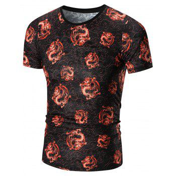 All Over Dragon Print T-Shirt