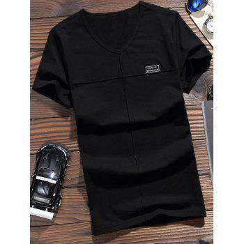 Label Embelished Short Sleeve T-shirt