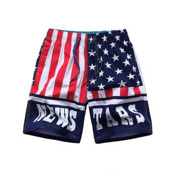 Striped and Strars Side Pocket Design Board Shorts