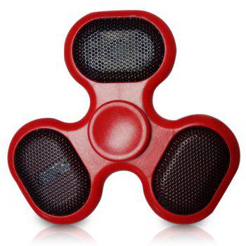 LED Bluetooth Speaker Musical Triangle Fidget Spinner - RED RED
